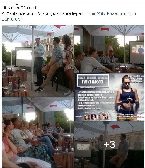 Dienstag ein Juice Plus Event-Abend im Bolero, heißer Abend, dennoch alle Gäste und Lizenzpartner der Juice Plus Company, aufmerksam und hoch motiviert!