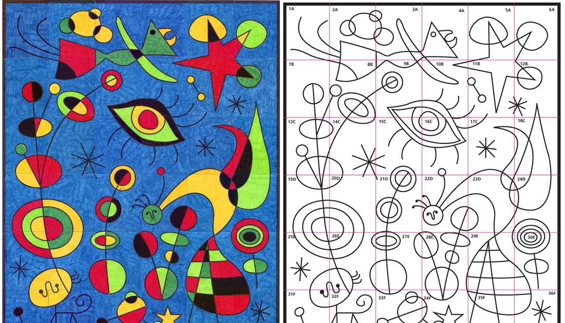 Ode To Joan Miro Mural Diagram