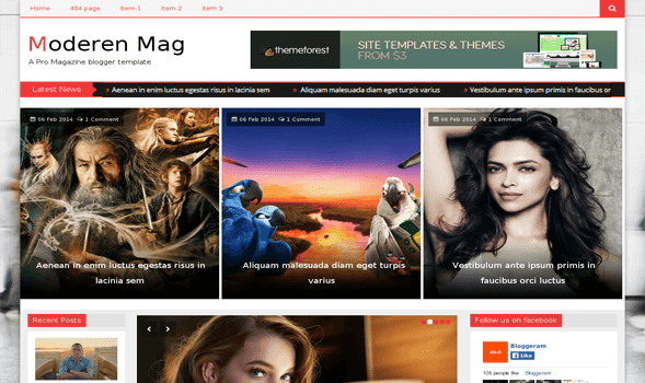Download - Modern Mag - Responsive Blogger Template