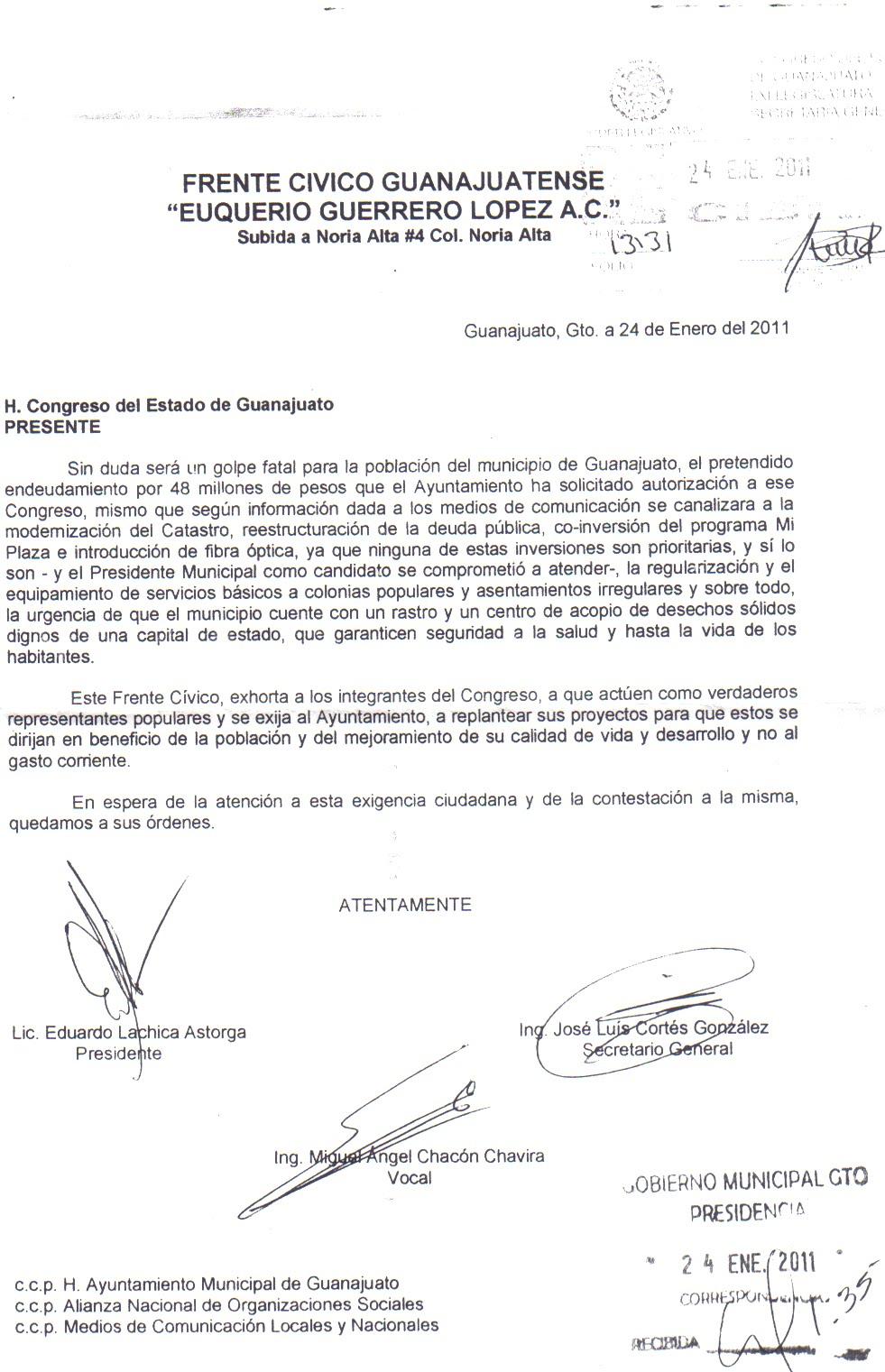H. Congreso del Estado de Guanajuato.