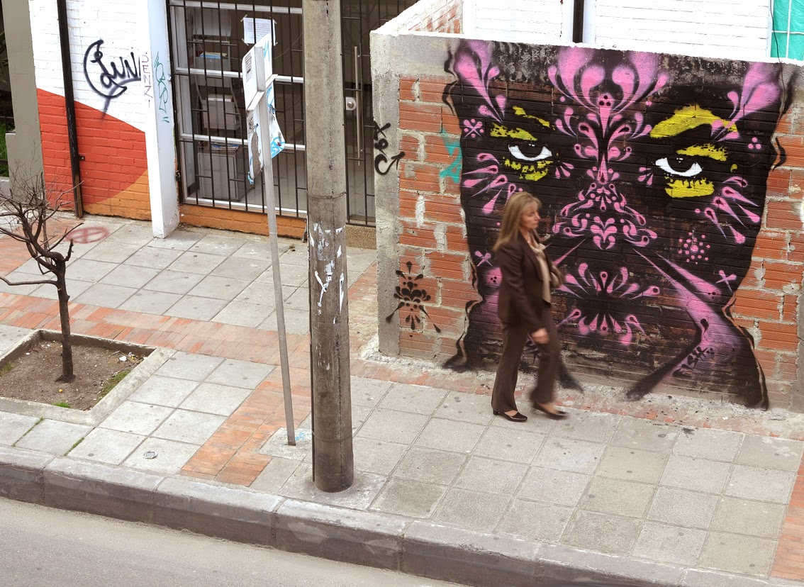 New Street Art Pieces by Colombian Street Artist Stinkfish in Bogota, Colombia. 1