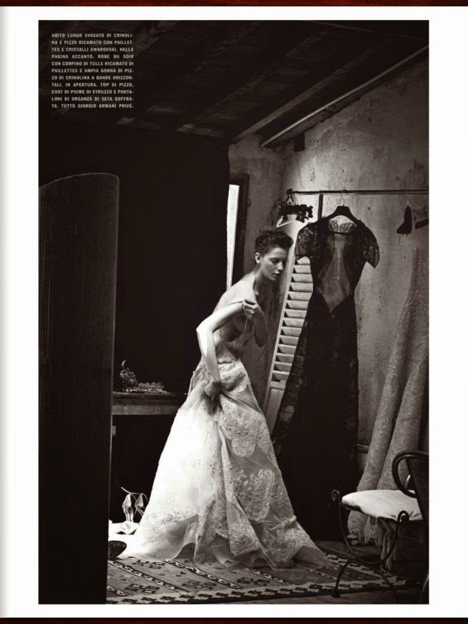 Milagros Schmoll by Peter Lindbergh for Vogue Italia Supplement (September 2013)   Ses Rêveries