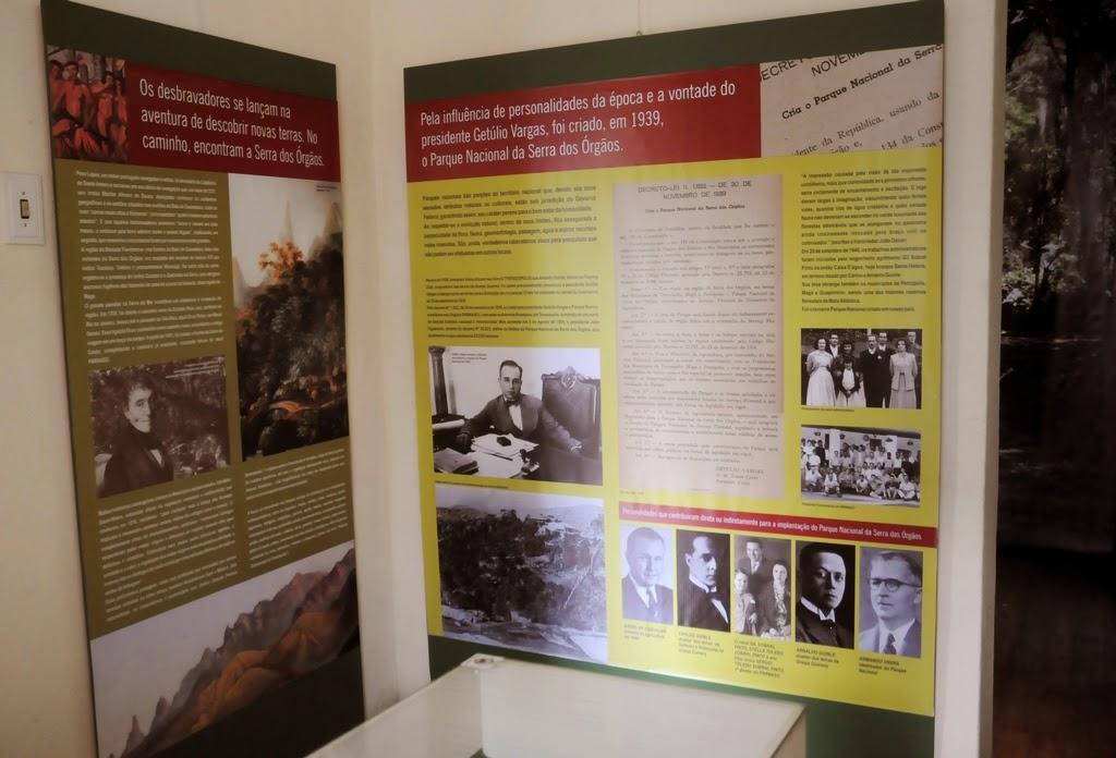 Paineis ilustrados narram a história do Parque Nacional - PARNASO