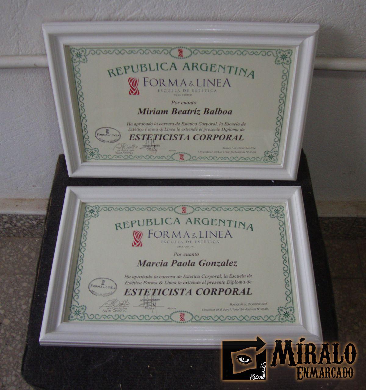 Enmarcamos tus certificados, diplomas y titulo. Tenelos protegidos y ...