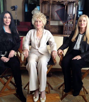 Cher, mother Georgia Holt and sister Georganne LaPiere on the set of Georgia's May 2013 television special
