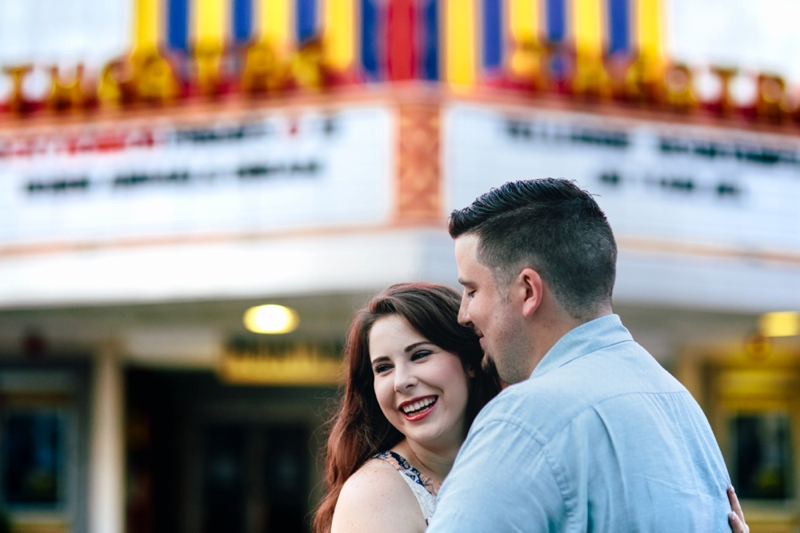 engagement session at sunrise in Atlanta on Ponce