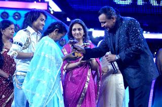 Mithun at Dance India Dance's grand finale