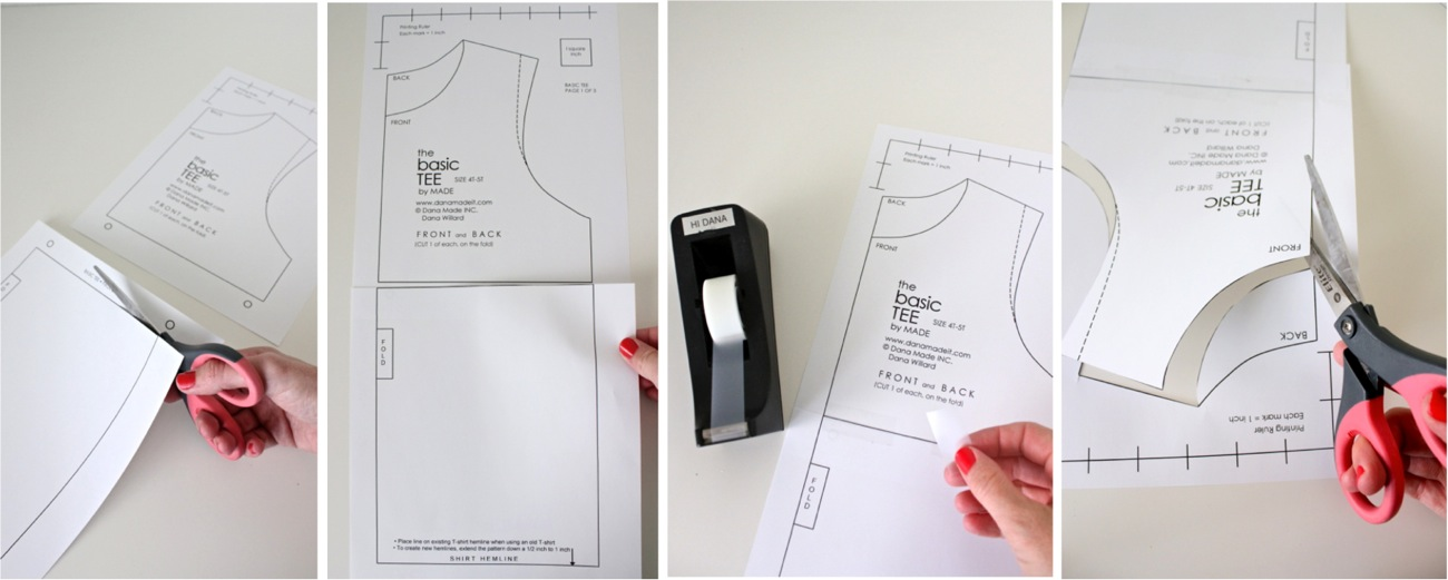 how to cut out a shirt pattern