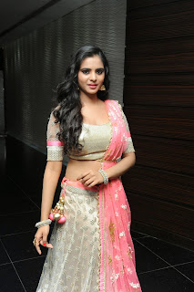 Manasa himvarsha in lovely Designer Saree and Silver Choli Smiling Beauty