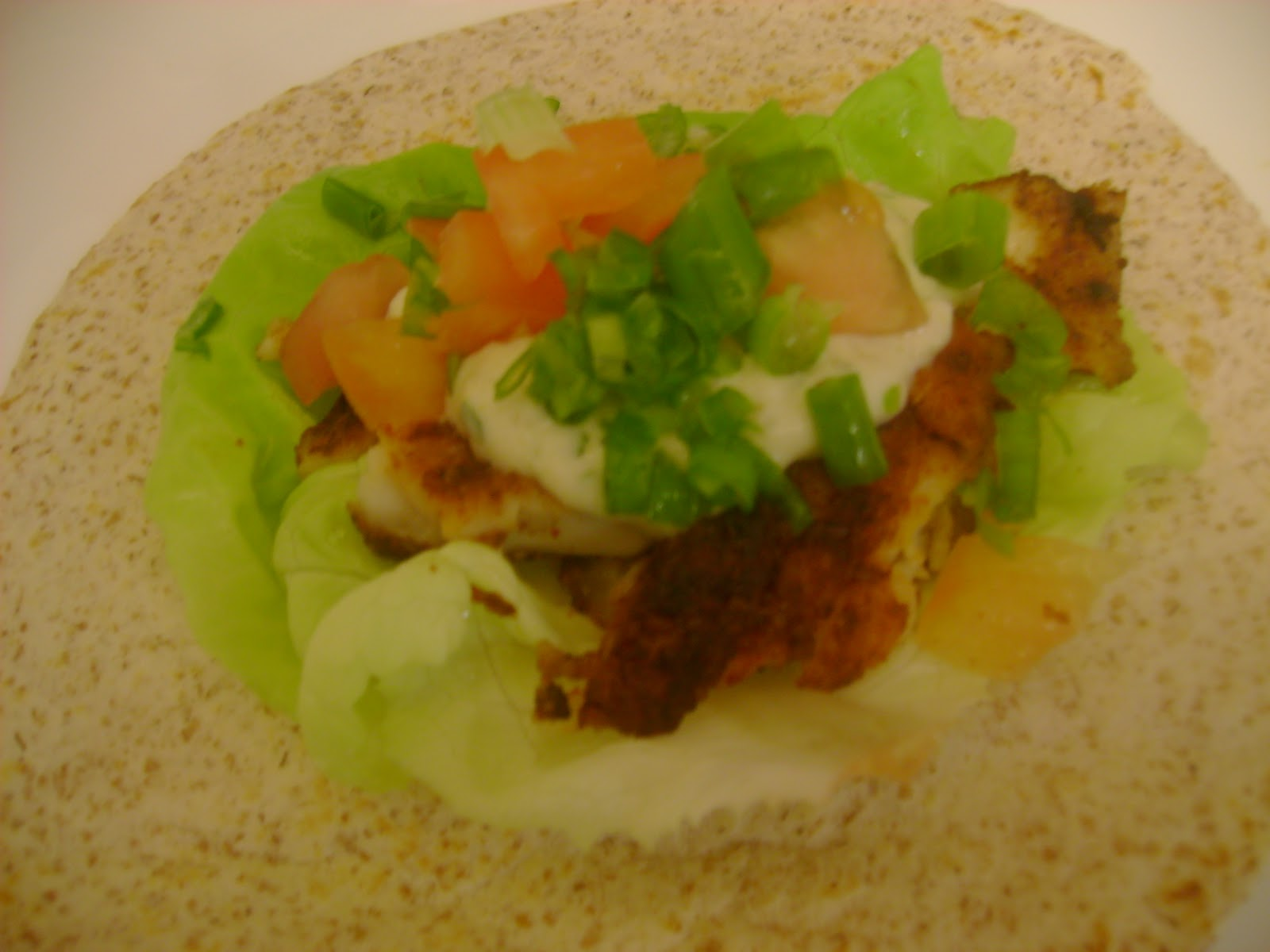 Chocolate chillies spicy fish tacos with creamy chilli for Creamy fish taco sauce