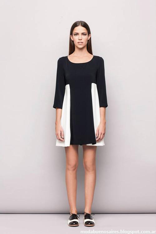 Vestido corto colección Awada otoño invierno 2014 - Moda invierno 2014 vestidos.