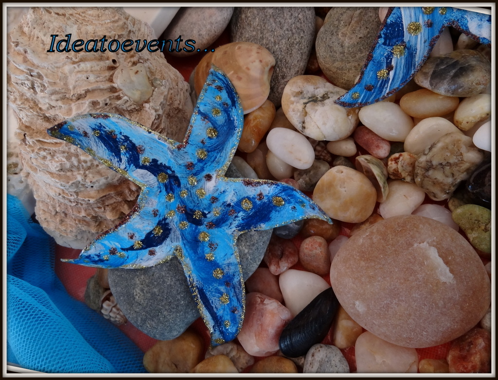 Starfish handmade deco wedding christening