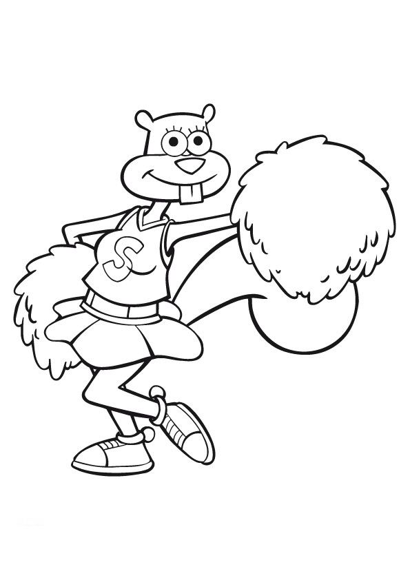 Spongebob and sandy coloring pages for Sandy cheeks coloring pages