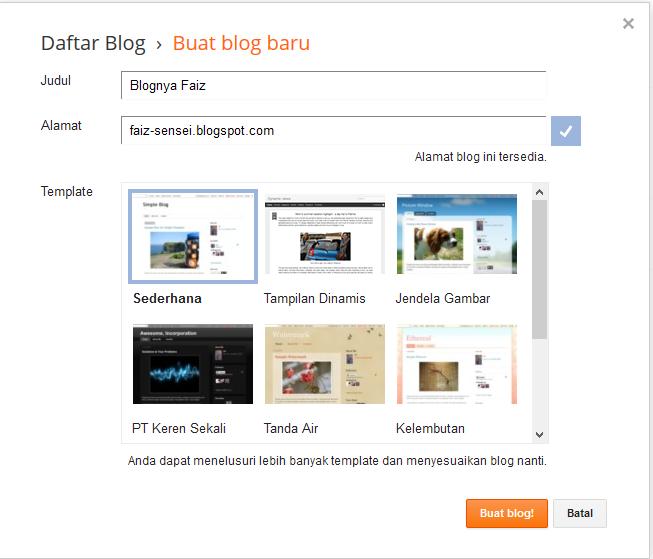 cara membuat blogspot mudah