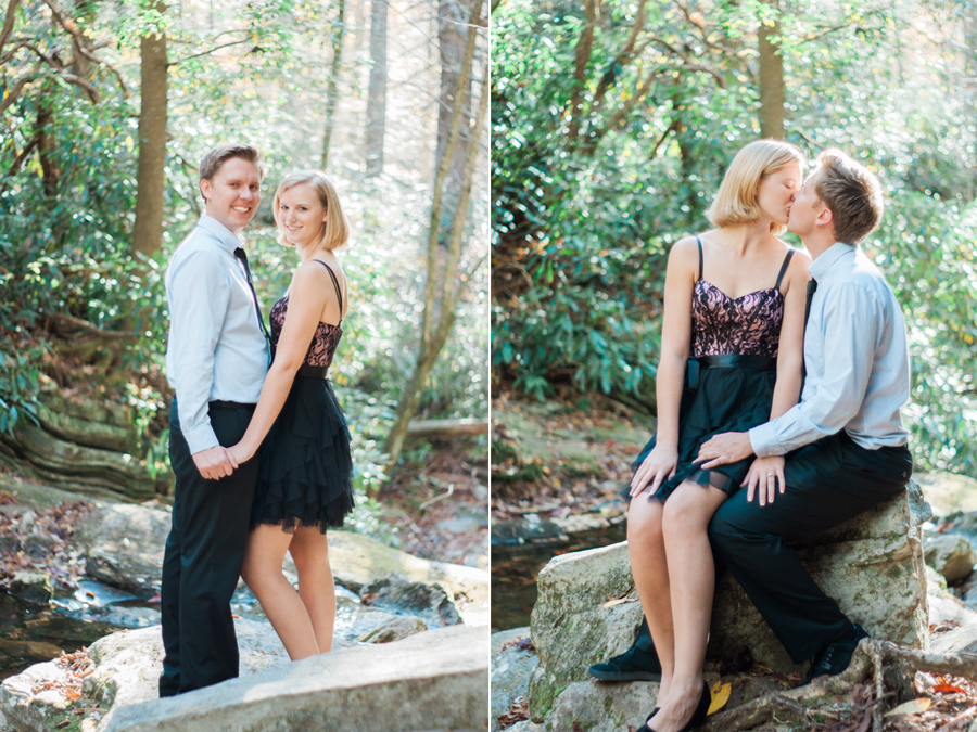 Kim + Dennis' Linville Falls Engagement Adventure | Boone NC Engagement Photographer