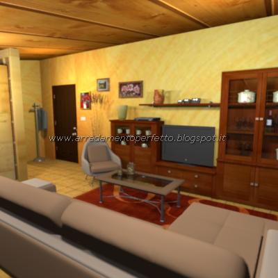 salone bicolore classico : Il divano separa la zona giorno dalla cucina nella mansarda in stile ...