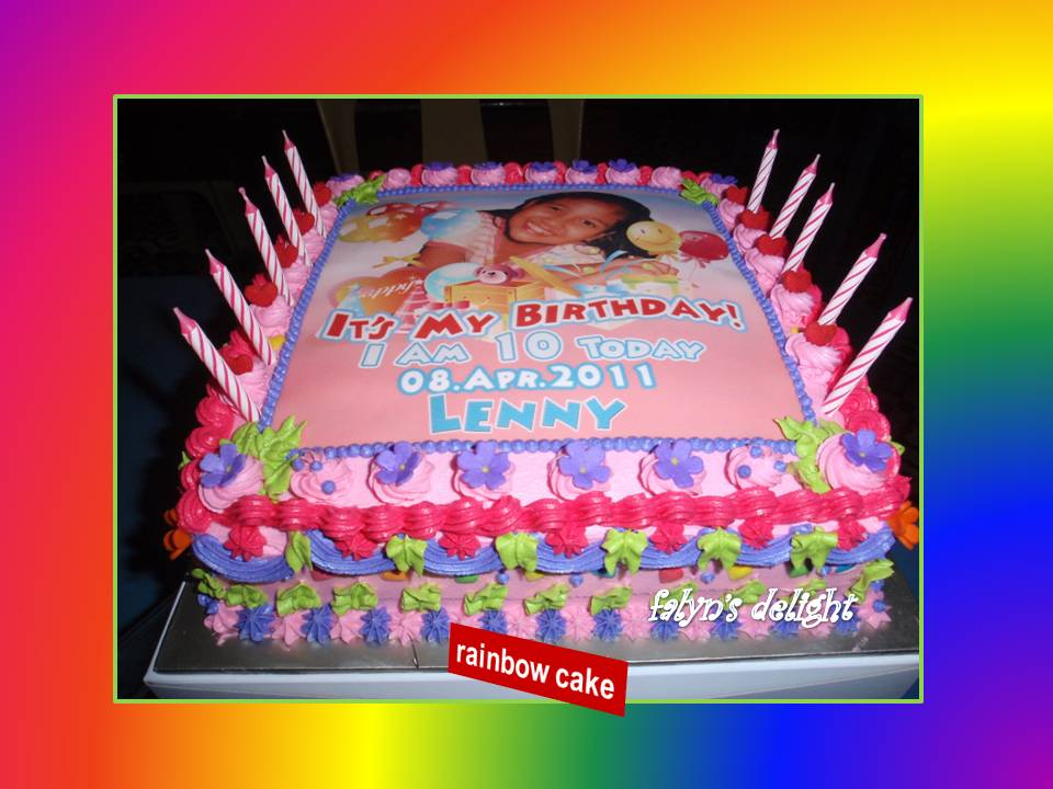 Falyns Delightcakes Rainbow Birthday Cake