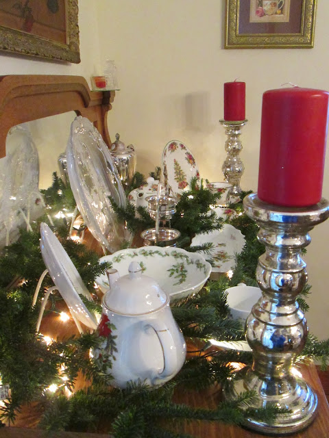 A sentimental life buffet decked out for Christmas decorations home goods