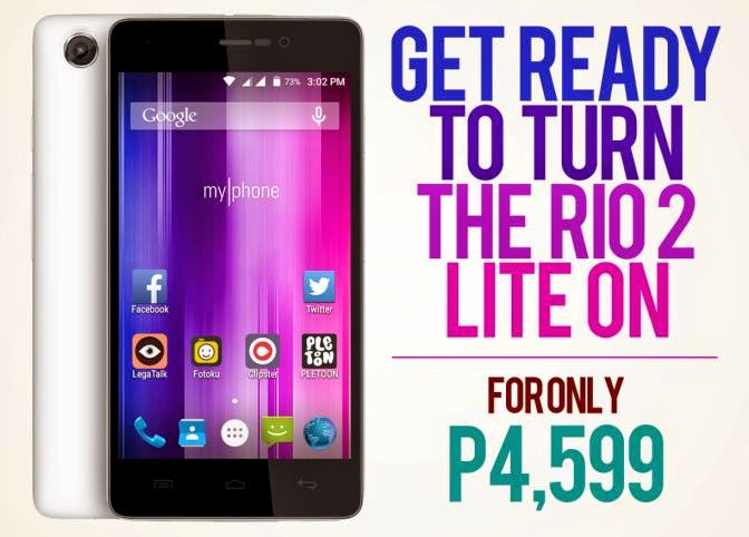 MyPhone Unveiled RIO 2 Lite, Quad Core Lollipop for Php4,599