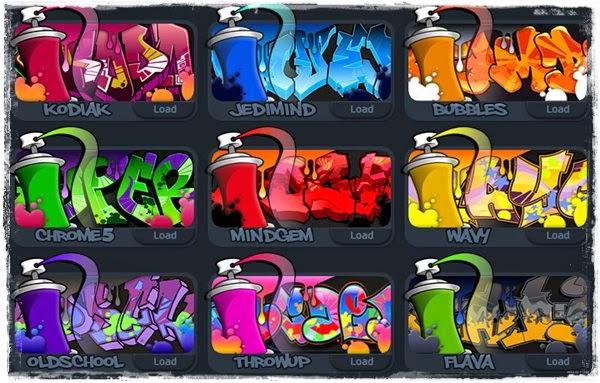 Escrever nome com letras de grafite online