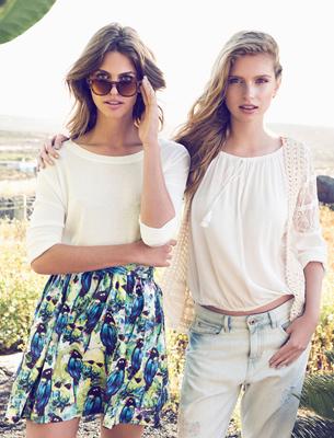 Suiteblanco jeans y falda verano