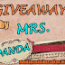 FIRST GIVEAWAY by MRS. PANDA