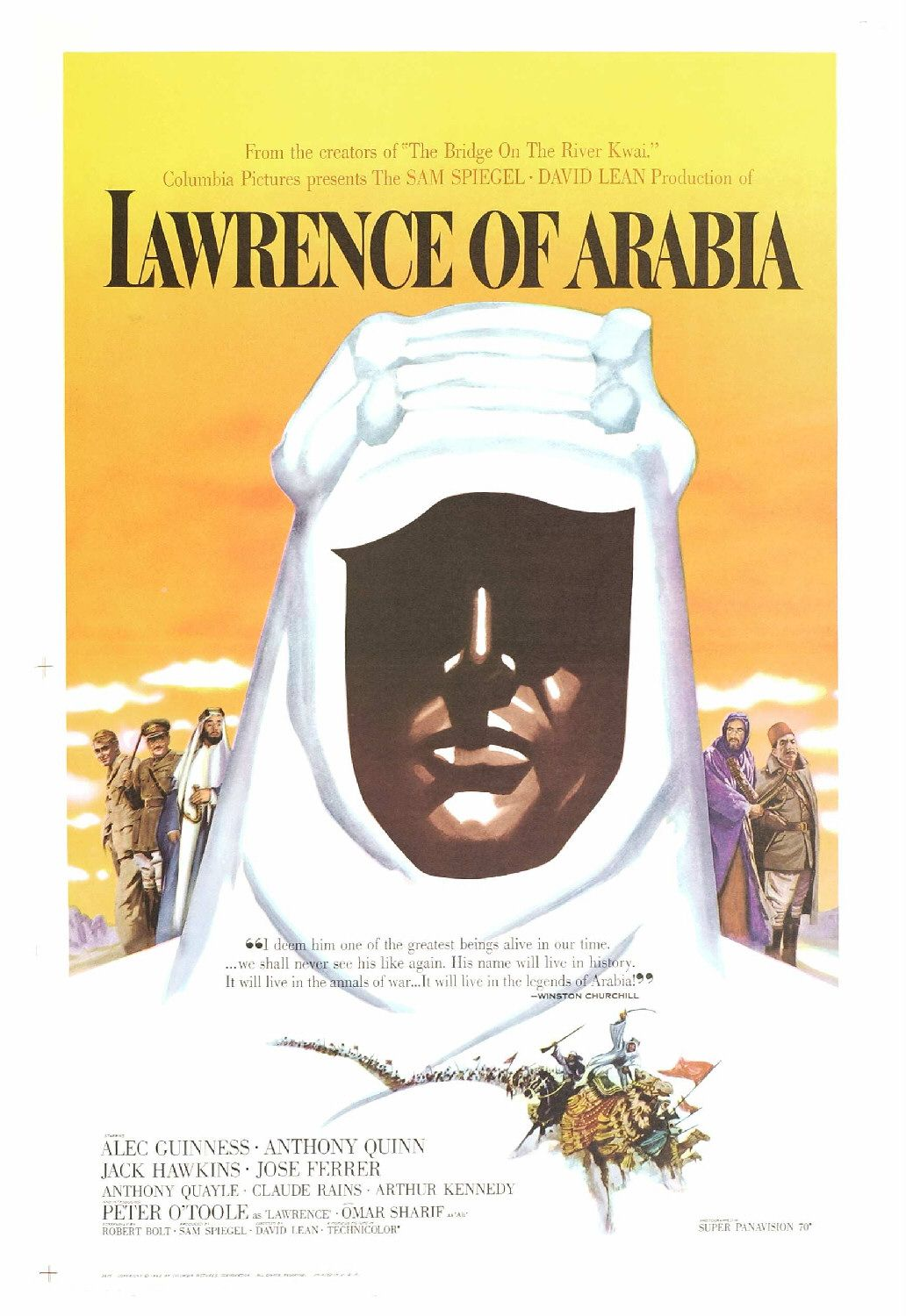 a movie review of lawrence of arabia Because lawrence of arabia begins with the fatal motorcycle accident which ended lieut col lawrence's life in 1935, the film is essentially one huge flashback that begins after jackson bentley (arthur kennedy), the fictitious stand-in for american journalist lowell thomas, is approached by a british reporter to say a few words after.