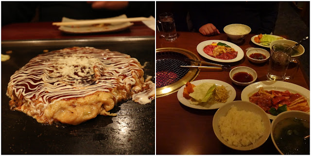 Okonomiyaki (Japanese pancake) and Japanese style BBQ are popular food in Osaka, Japan