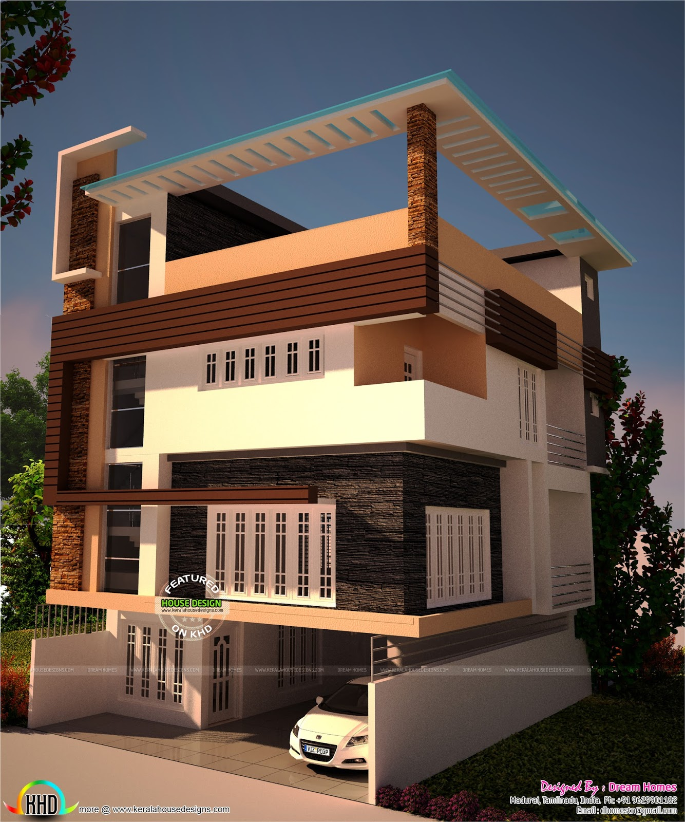 30x40 plot size house plan kerala home design bloglovin for 30x40 2 story house plans