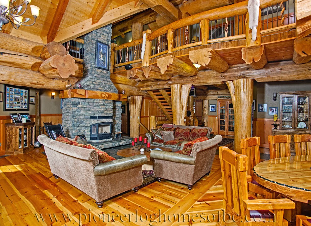 Rustic log cabins and interior timber kings gallery for Cottage plans with loft and big kitchen