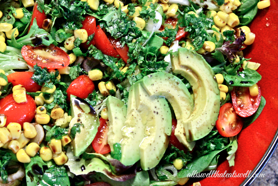 All Is Well That Eats Well: Avocado, Corn and Cilantro Salad Bliss