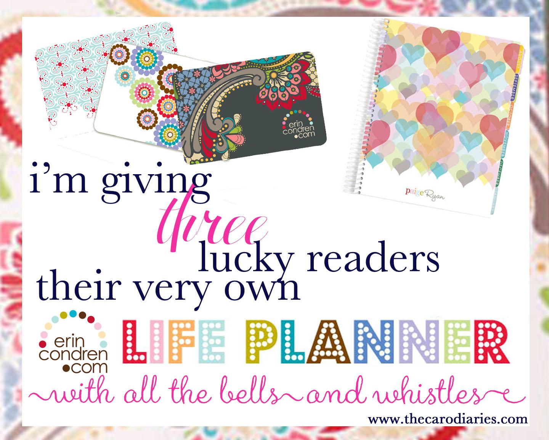erin condren life planners giveaway!