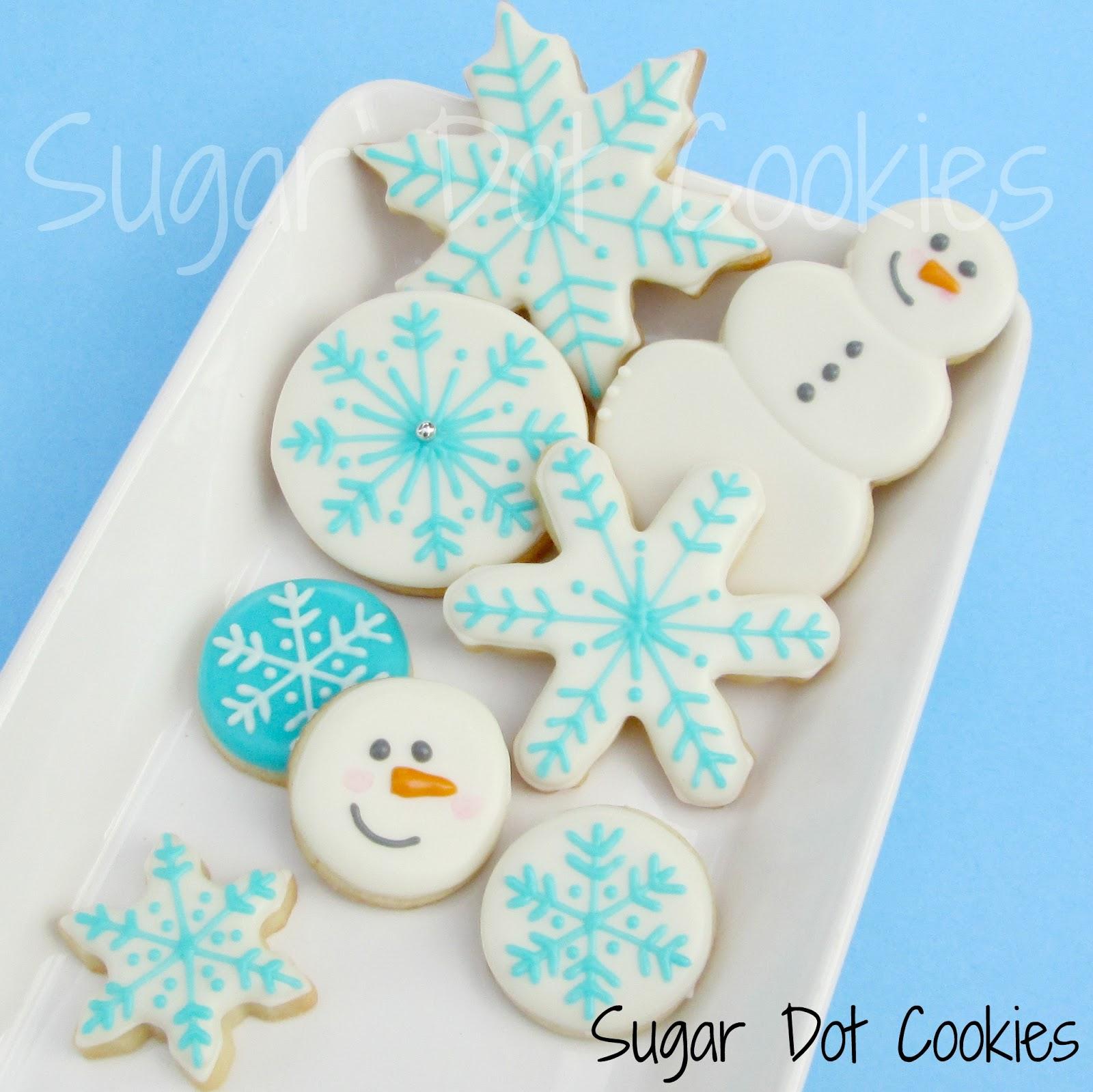 Snowman Circle Cut Out... Round Birthday Sugar Cookies