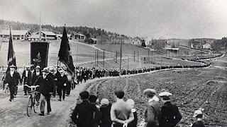 A march in Ådalen, Sweden, in 1931