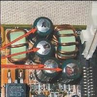 capacitor estourados