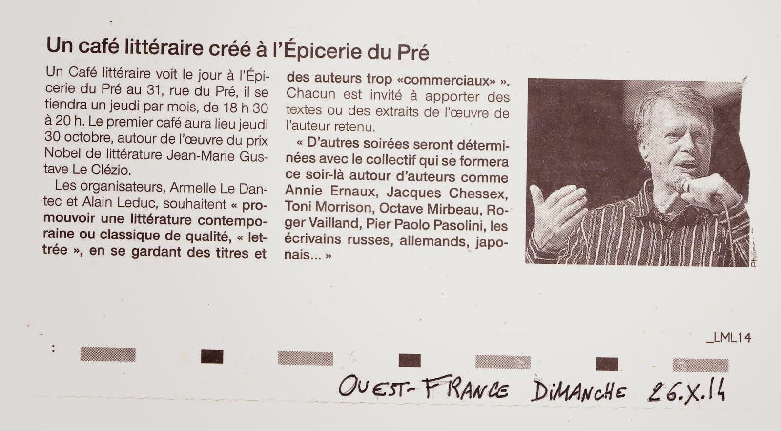 Ouest-France 26 octobre 2014