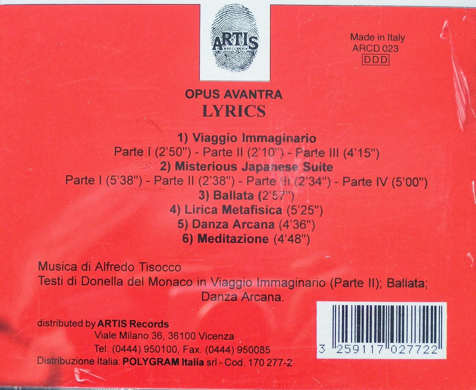 Opus Avantra - Strata