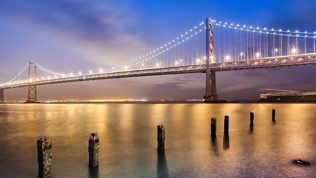 Golden Gate Bridge Lights HD Wallpaper