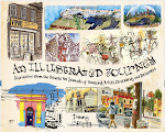 See my travel sketches in Danny Gregory's An Illustrated Journey.