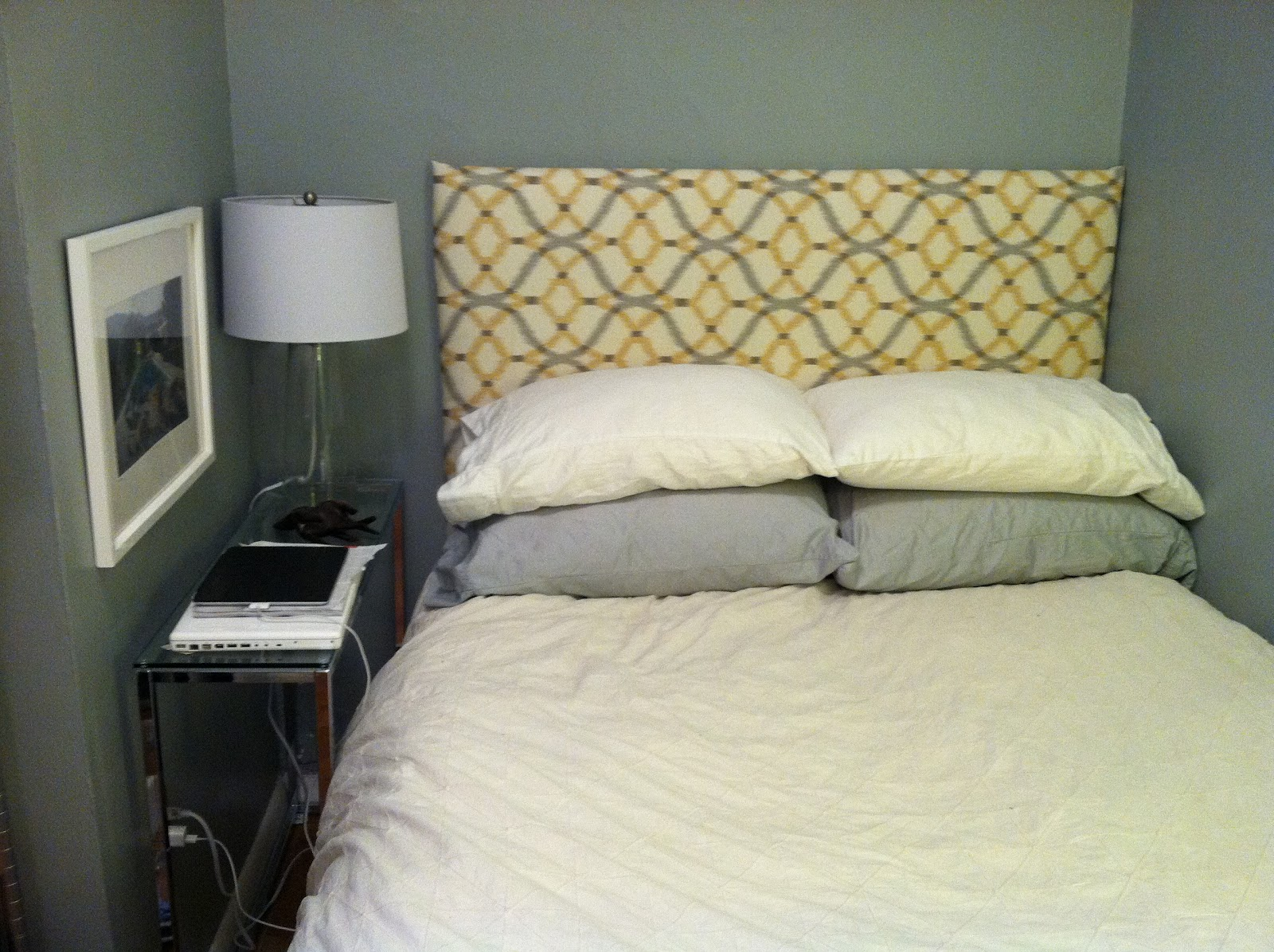 sh tty chic diy foam board head board