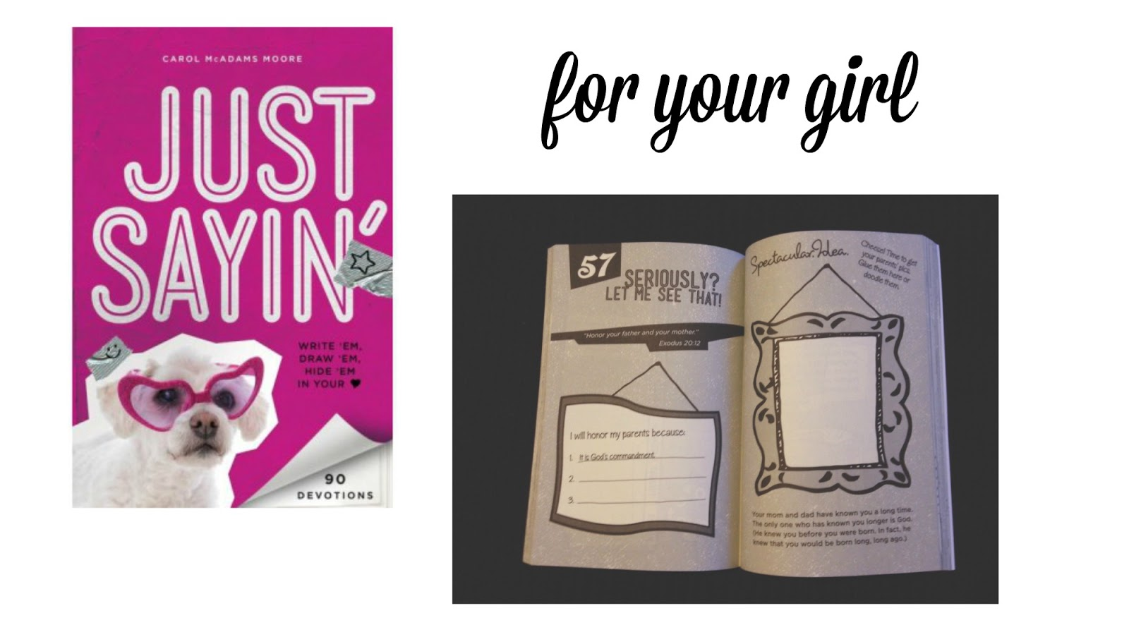 Devotional for your girl. #parenting #Bible #devotional
