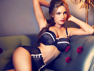 Kelly Brook sexy in New Look lingerie photoshoot UHQ
