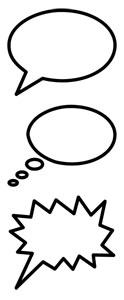 Tipos de bocadillos para diálogos