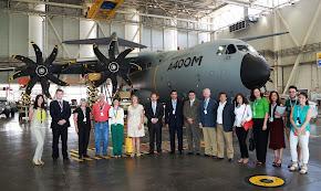 Con el Embajador de Panamá en Airbus
