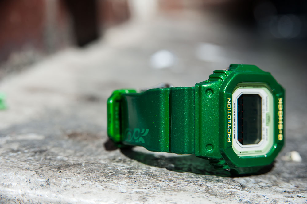 Photography of the Casio G-Shock GLX-5600A-3 G-LIDE Green Metallic Watch by Tom Cunningham