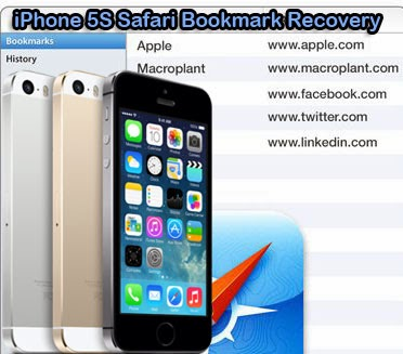 restore safari bookmarks on iPhone 5s
