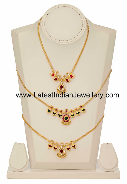 Gold nagapadam necklace designs