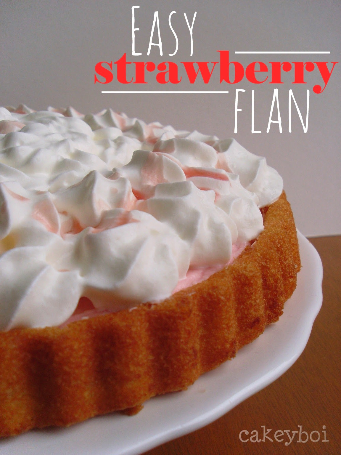 Fastest Strawberry Flan made in under 30 minutes!