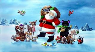 Santa Wishing Happy Christmas