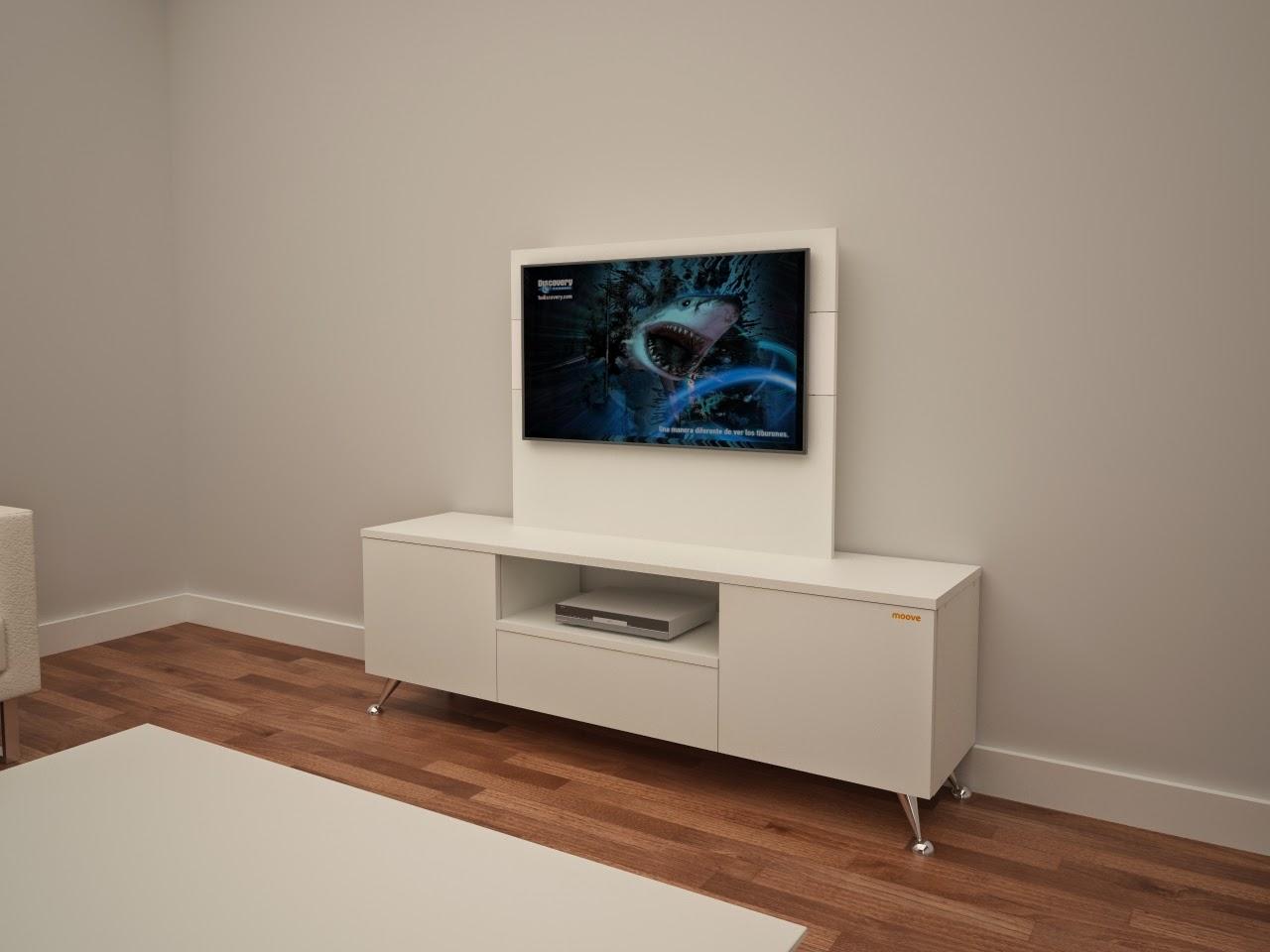Muebles de diseño: Composición 1 mueble para TV con fondo para ...